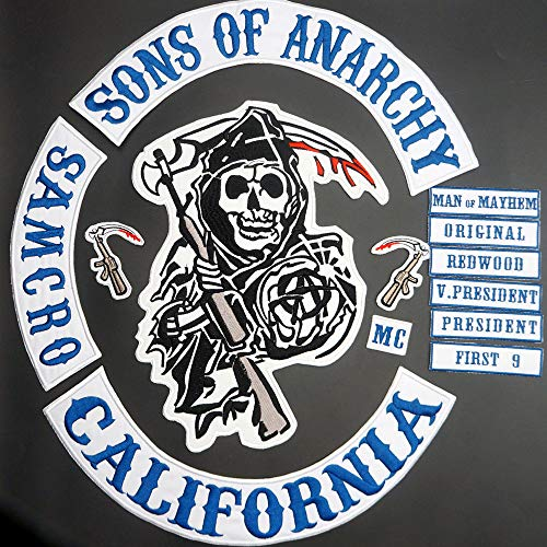Original Son of Jacket Back Embroidered Embroidery Needlework Sewing Anarchy Patch Patchwork Biker Club 36cm Full SOA Patches Brand
