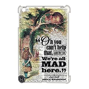ZK-SXH - We're All Mad Here Customized 3D Hard Back Case for iPad Mini,We're All Mad Here Custom 3D Cell Phone Case