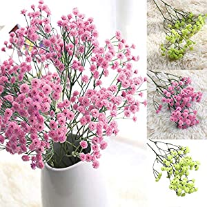 JCarry Artificial Flower Baby's Breath Fake Flower Gypsophila Wedding Bouquet for Home Decor Office, Bedroom, Living Room, Coffee Table, Windowsill, Balcony 97