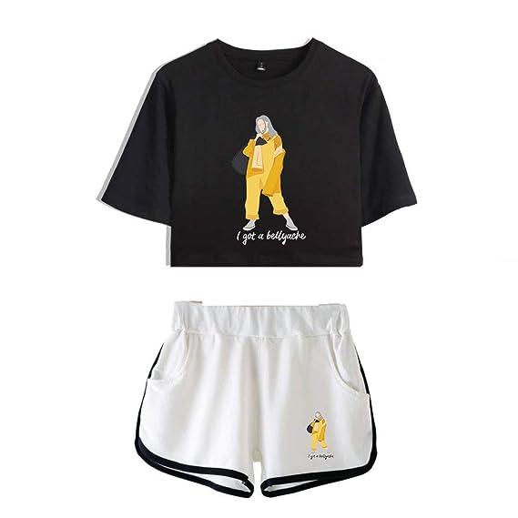 Amazon.com: Billie Eilish Crop Tops 2 piezas Merch camisa de ...