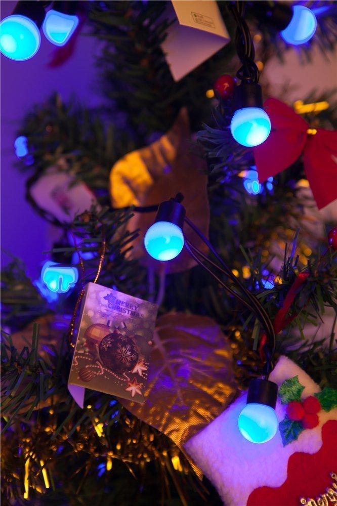 Weihnachtsbeleuchtung Kugel Aussen.Solar Ball Lichterkette Kingcoo 23ft 50leds Globe Stimmungslichter