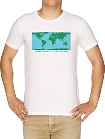 The World'S Greatest Planet On Earth - The Worlds Greatest Planet On Earth Camiseta Hombre Blanco