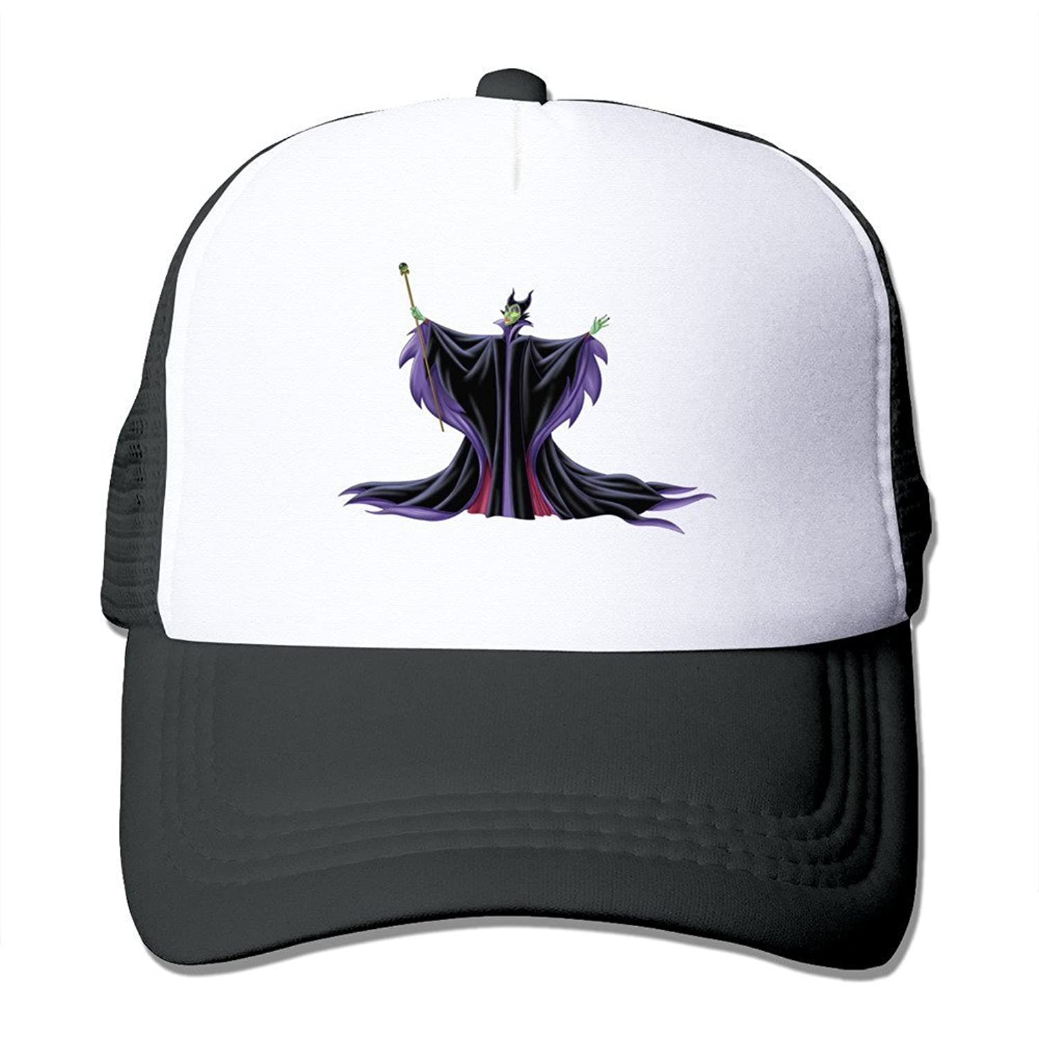 New Style Adult Unisex Beauty Maleficent 100% Nylon Mesh Caps One Size Fits Most Adjustable Cap