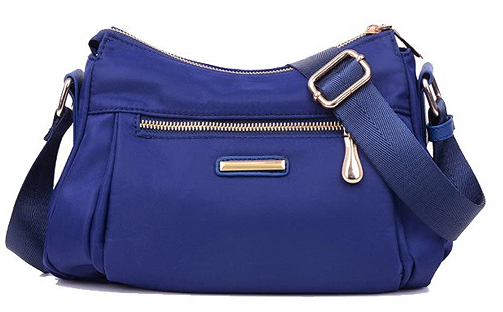 bluee WeiPoot Women's Shopping Shoulder Bags SatchelStyle Nylon Crossbody Bags, EGHBG181371