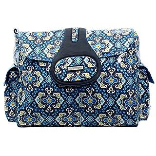Kalencom Elite Diaper Bag, Garden Charm Indigo