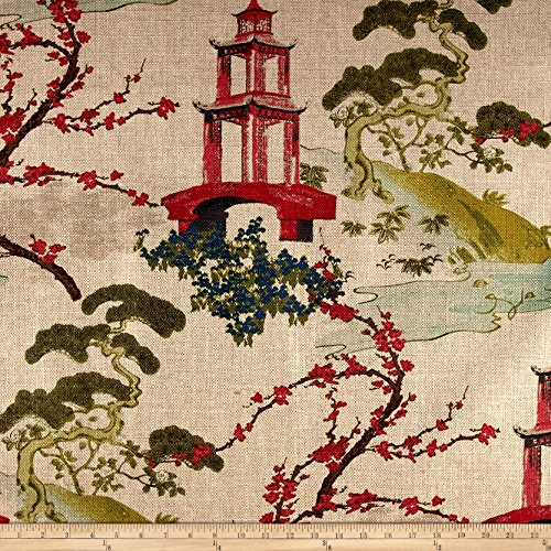(Regal Fabrics Regal Zen Toile Basketweave Linen Fabric by The Yard)