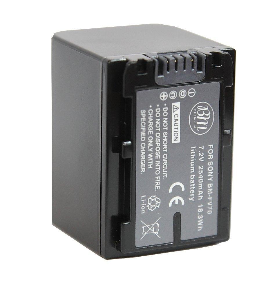 BM Premium 2 NP-FV70 Batteries for Sony PXW-Z90V, HXR-NX80, HDR-CX455/B HDR-CX675B, CX330, CX900, PJ340, PJ540, PJ670B, PJ810, FDR-AX33, FDR-AX53, FDR-AX100, NEX-VG10, VG20, VG30, VG900 Camcorders