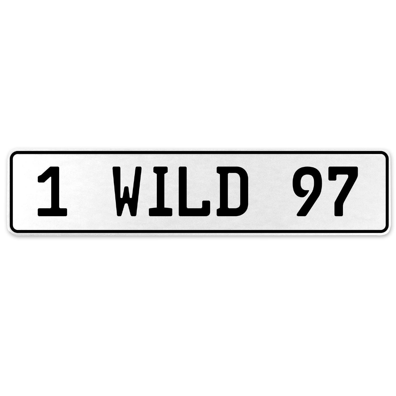 Vintage Parts 555981 1 Wild 97 White Stamped Aluminum European License Plate