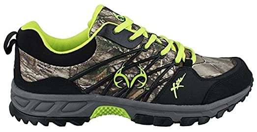 Men's Realtree Outfitters Bobcat Hiking Sneaker CAMO LIME 14 M