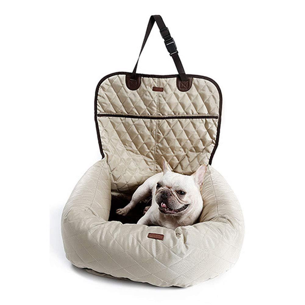 Beige CHEN. Pet car seat cover car mat dog car mat kennel rear seat padded waterproof pet supplies,Beige