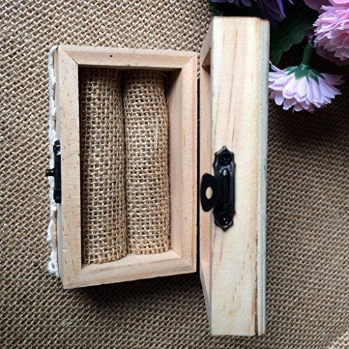 Jili Online Wedding Party Wooden Ring Bearer Box Ring Box Ring Pillow Box Lover Gift Box by Jili Online (Image #5)