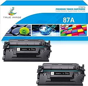 True Image Compatible Toner Cartridge Replacement for HP 87A CF287A 87X CF287X Laserjet Enterprise M506dn M506n M506 Laser Jet Pro M501dn M501n MFP M527 M527dn M506x Printer Ink (Black, 2-Pack)
