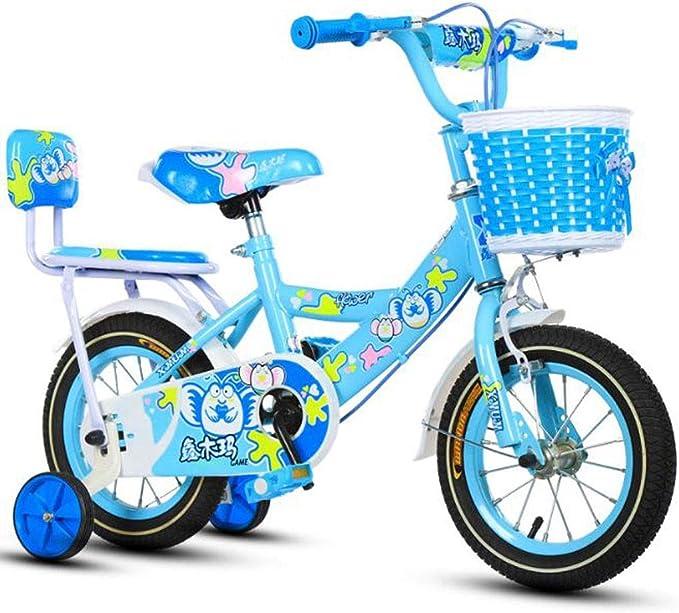 """K-G Bicicleta Infantil Acero del niño de la Bicicleta en tamaño 12"""" 14"""" 16"""" 18"""" Ajustable niños de la Bici de 2-13 años de Edad con la Rueda de formación (Color :"""