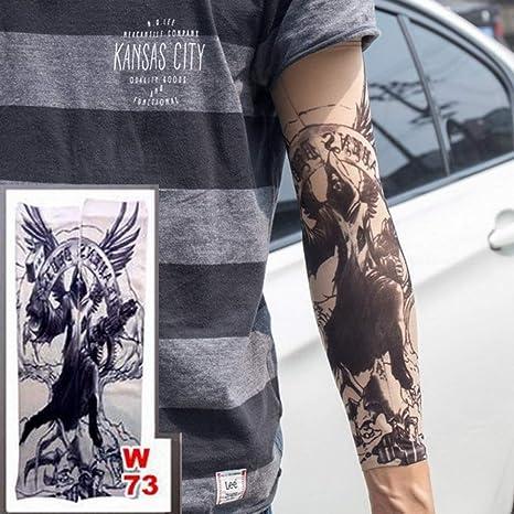 tzxdbh 2 Piezas de Brazo Largo Tatuaje Manga elástica Nylon ...