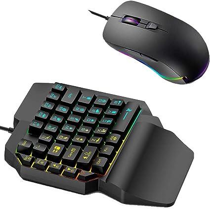 Combo de mouse con teclado para juegos con una sola mano ...