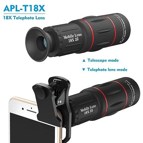 COL PETTI Teléfono Lente Universal 18X telescopio óptico de Zoom ...