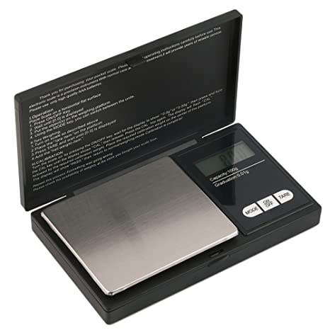 Hoosiwee Báscula Digitales de Precisión,100g 0.01g Balanzas de Portátiles, Báscula de Joyería, con Pantalla LCD, Plataforma de Acero Inoxidable, ...