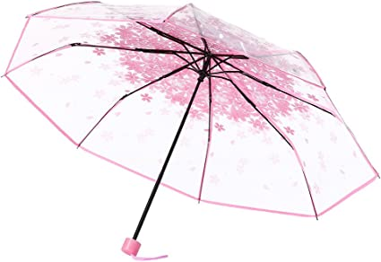 Funny Group Cat Flowers Butterfly Windproof Automatic Tri-Fold Foldable Umbrella Cartoon UV Protection Travel Unbreakable Compact Portable Sun Rain Umbrella