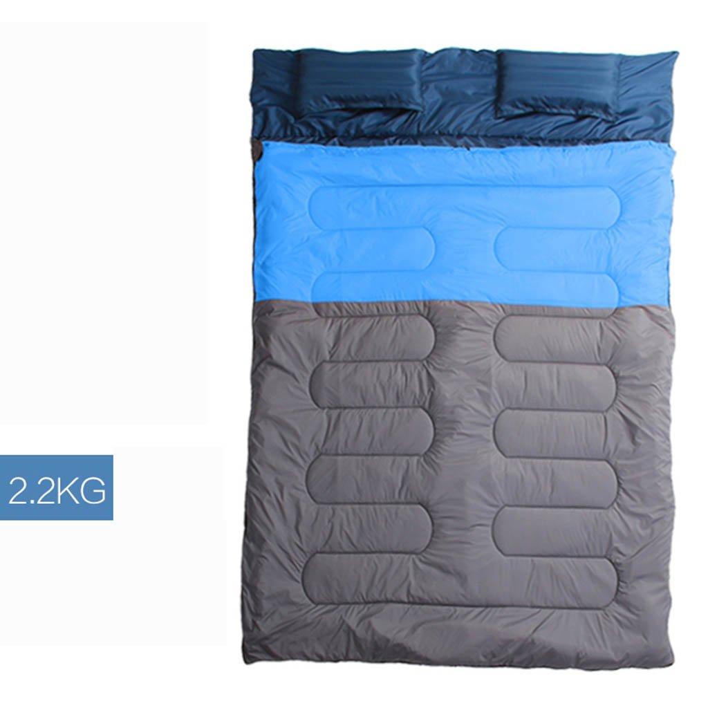 寝袋、ダブル、暖かい屋外屋内大人の秋と冬のキャンプ旅行 B07D9B56ZY 2 2