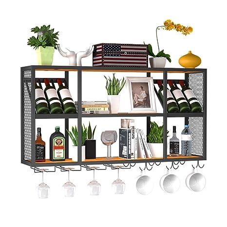 Racks Y botelleros de Vino Perchero de Hierro Forjado para ...