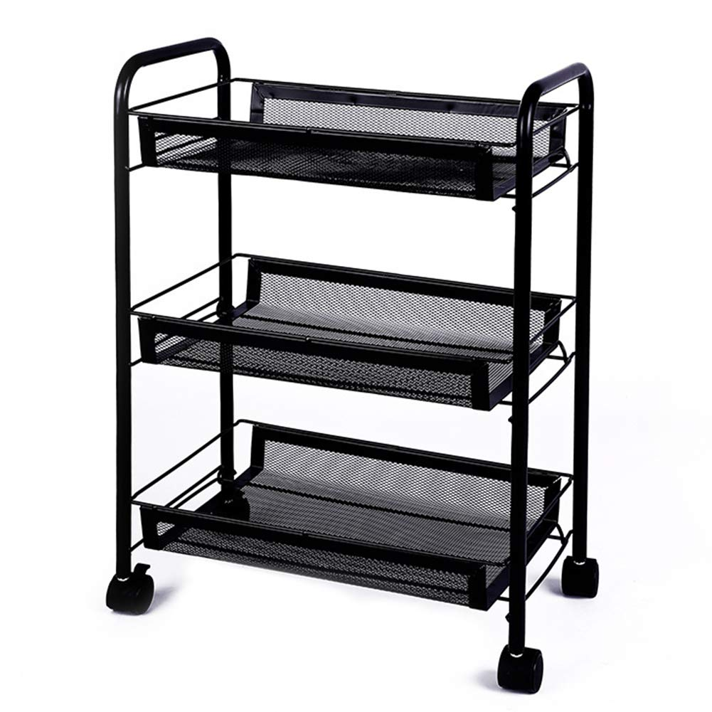 Multi-Function Storage Rack, Household Kitchen Bowl Rack with Universal Wheel Floor Trolley Nail Shop Storage Rack (Multi-Color, Multi-Size Selection) by Kitchen shelf