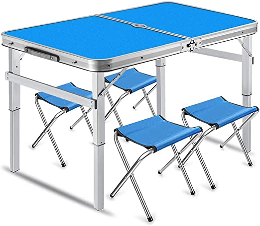 3FT Aluminum Portable Adjustable Folding Table Camping Outdoor Picnic Party BBQ