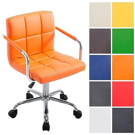 Sedie Da Ufficio Arancione.Sedia Lavoro Studio Con Braccioli E 5 Ruote Clp Sedia Da Ufficio