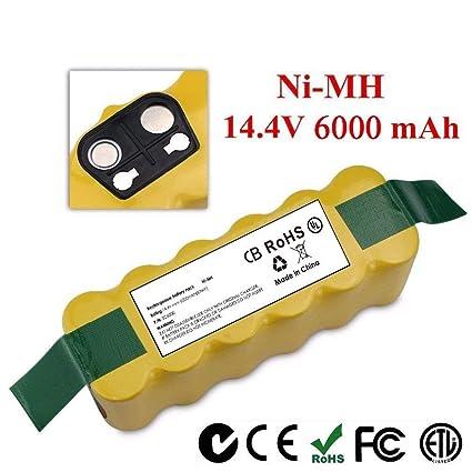 LanLan Batería 6000mAh para iRobot Roomba 650 770 780 870 880 550 560 595 600 700