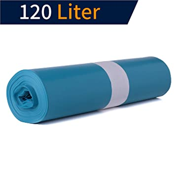 Abfallbeutel 120 Liter 700 x 1100 mm Abfalltüten Müllsäcke blau 250 Stück