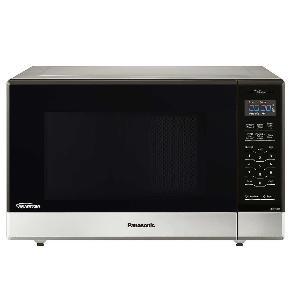 Panasonic NN-ST696S Countertop/Built-In Microwave with Inverter Technology, 1.2 cu. ft. , Stainless (Renewed) by Panasonic