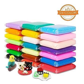 aitsite diy fluffy slime kit 24 colours modelling clay super light