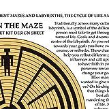 Coiled Basket Kit - Maze Design