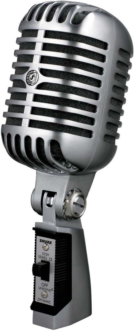 Shure 55SH/ 50//–/15.000/Hz, 150/Ohm silberfarben /Dynamisches Mikrofon