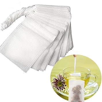 Tovee 100 Pcs Bolsita de te de filtro Bolsita de té de las hojas bolsas de filtro de papel, 5.5 X 7cm