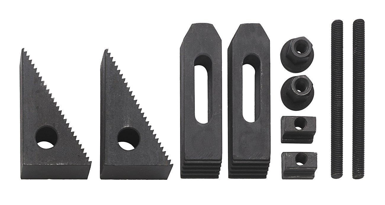 WABECO Spannpratzen Satz 10-teilig fü r T-Nutenbreite 10 mm Gewinde M8 T-Nutensteine Spanneisen Spannwerkzeug