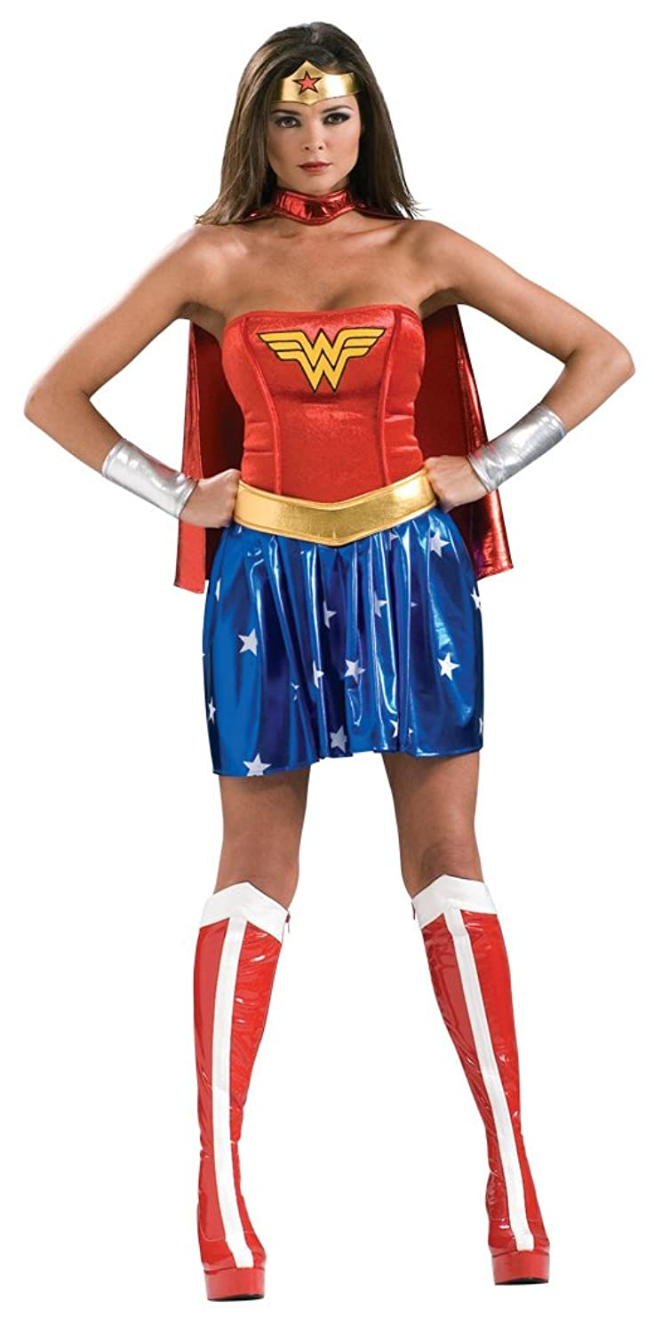 Amazon.com: Secret Wishes Deluxe Wonder Woman Costume, Blue/Red ...