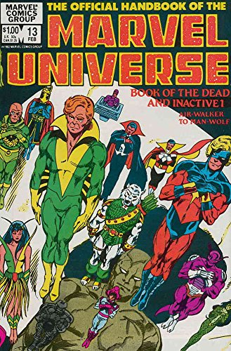 Official Handbook of the Marvel Universe (Vol. 1) #13 FN ; Marvel comic book
