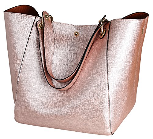 Fashion Bag Shoulder Tote Gold Waterproof Ladies Leather Sqlp Handbags Bags Women's Rose g0Bpqdd