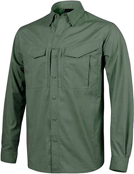 Helikon Hombre Defender Mk2 Manga Larga Camiseta Verde Oliva ...