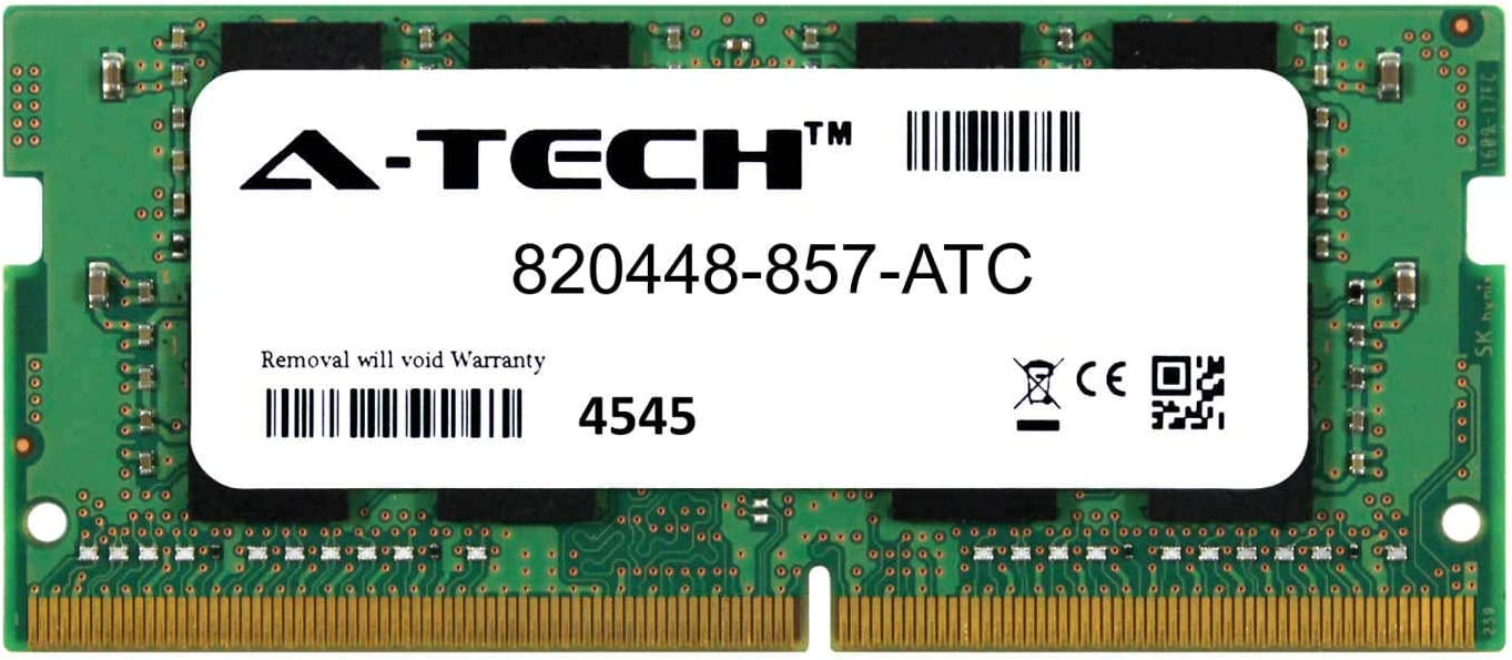A-Tech 8GB Replacement for HP 820448-857 - DDR4 2133MHz PC4-17000 Non ECC SO-DIMM 2rx8 1.2v - Single Laptop & Notebook Memory Ram Stick (820448-857-ATC)