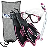 Cressi Palau Long Fins, Pink, S/M | (Men's 4-7) (Women's 5-8)