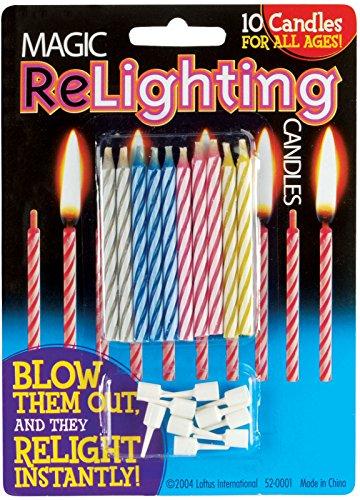 (Loftus Magic Trick Relighting Birthday Candles (10)