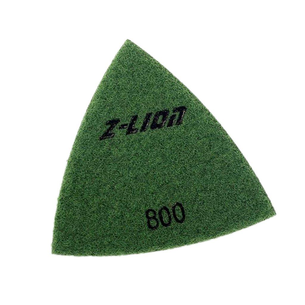 Sharplace Diamant Polieren Stein Schleifstein Hand Schleifpad Dreieck Stil Granit Marmor Stein - 93mm 120#