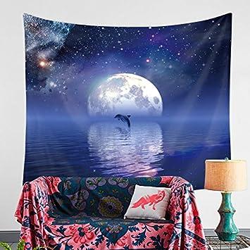 Himmel / Mond Tapisserie Strap / Hängenden Tuch / Hintergrund Tischdecke  Schlafzimmer Wohnzimmer Wand Dekoration Vorhang