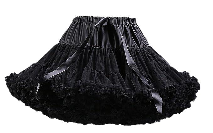 FOLOBE Women s Tutu Costume Ballet Dance Multi-Layer Puffy Skirt Adult  Luxurious Soft Chiffon Petticoat 18ea05fdcf57
