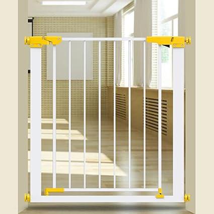 Barrera seguridad Baby Gate Indoor Stairs Auto Cerrar Extra Wide Pressure Fit Retráctil Puerta De Mascotas