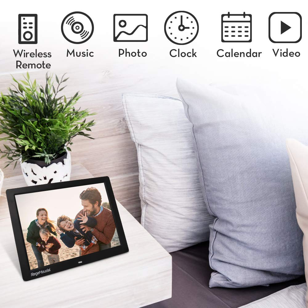 Digital frame, RegeMoudal 12 Inch Electronic photo frame with Wireless Remote Control, Support SD Card/USB by RegeMoudal (Image #3)