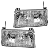 92 f150 headlight assembly - Driver and Passenger Headlights Headlamps Replacement for Ford Pickup Truck SUV F2TZ13008B F2TZ13008A