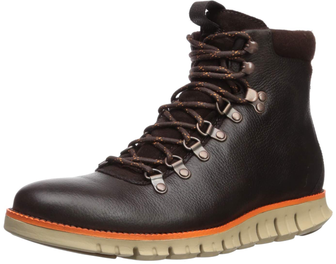 Cole Haan Men's Zerogrand Hiker Fashion Boot Java Leather wr/Turmeric/Cobblestone 9 M US