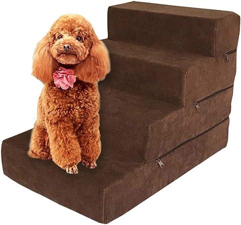 Escaleras para Perros/Gatos de 4 Pasos, para Mascotas pequeñas y Medianas, fáciles de Quitar y Lavar, Escalera Antideslizante- 38 × 54 × 40 cm: Amazon.es: Hogar